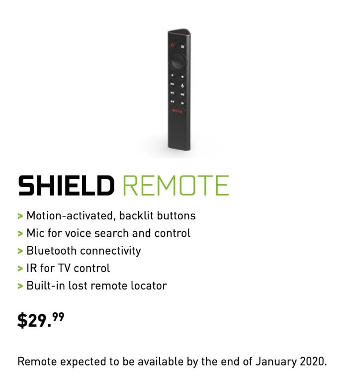 NVIDIA shield TV remote 2020