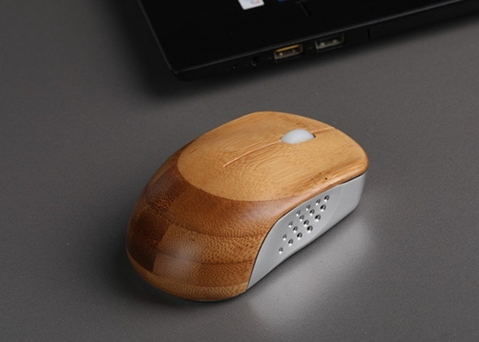 Natural touch bamboo mouse