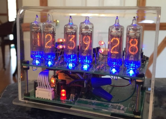 Nixie Clock X miniature nixie clock