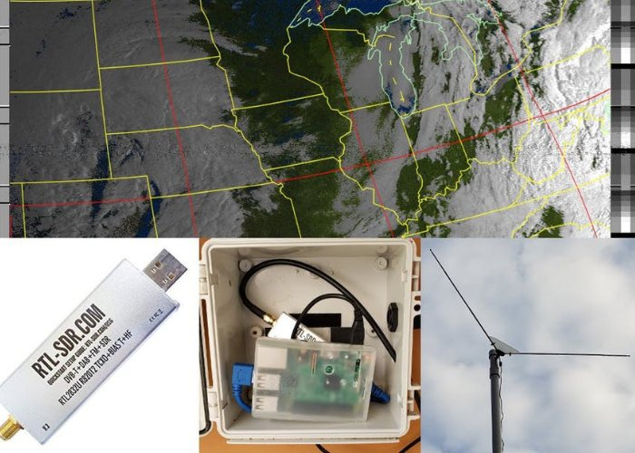 Automated Raspberry Pi weather station can receive and decode NOAA weather satellite images