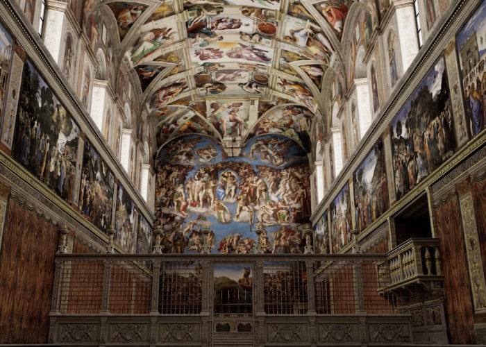 Sistine Chapel digitally recreated for your viewing pleasure