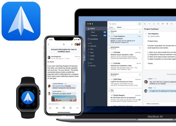 Spark iOS email app