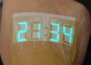 Stretchable electroluminescent stopwatch
