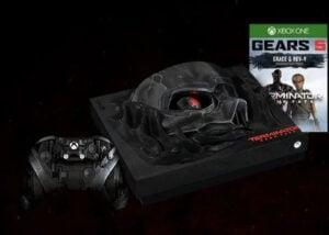Terminator Dark Fate themed Xbox One X