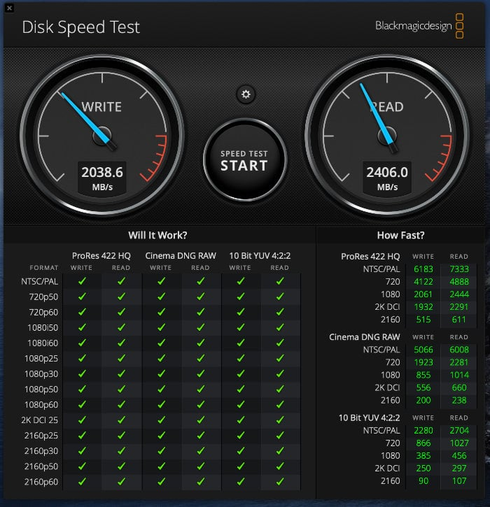 Thunderbolt 3 1TB external NVMe SSD drive
