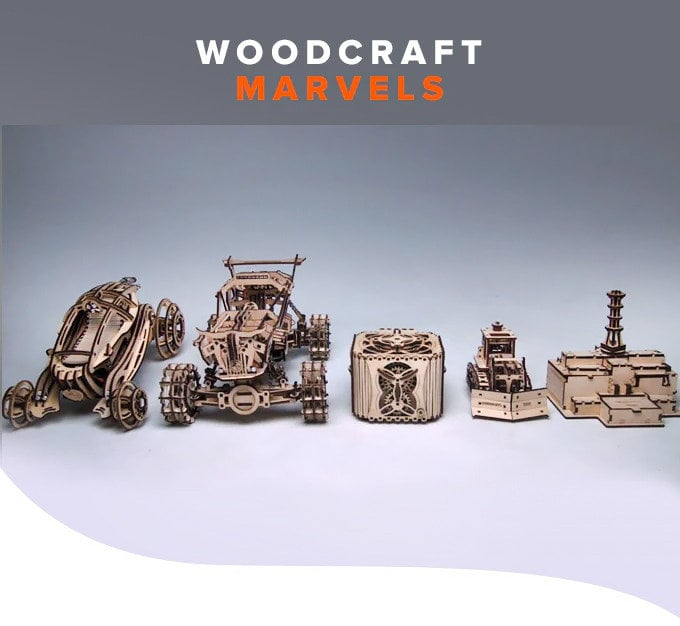 Woodcraft Marvels wooden kits