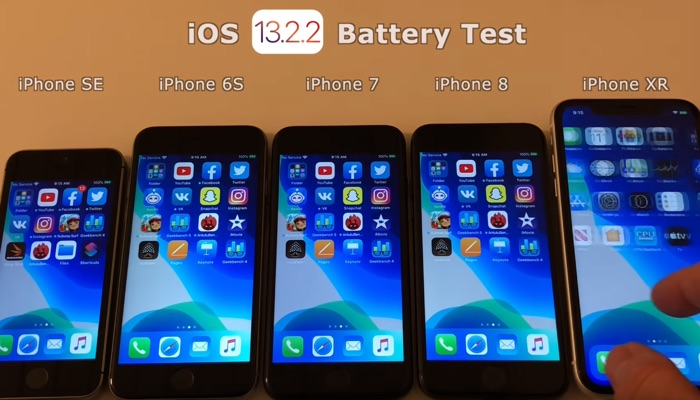 iOS 13.2.2 battery life test (Video)
