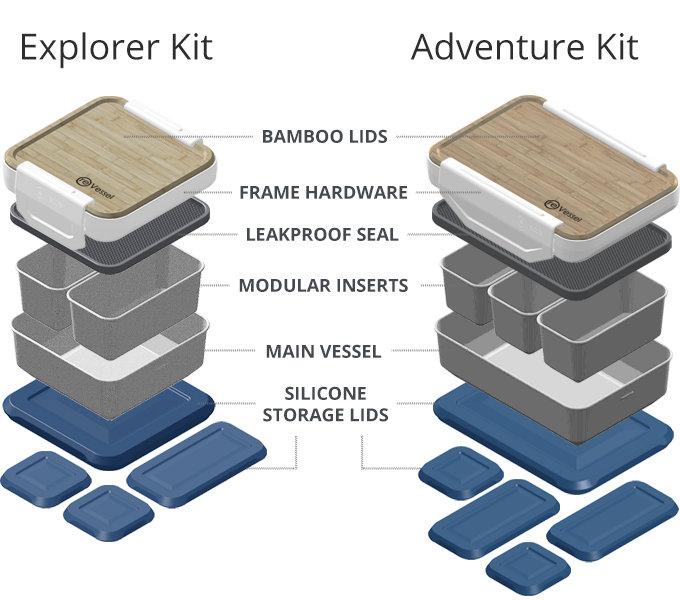 versatile modular lunchbox