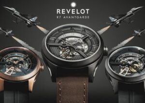 REVELOT automatic watch inspired by jet fighters