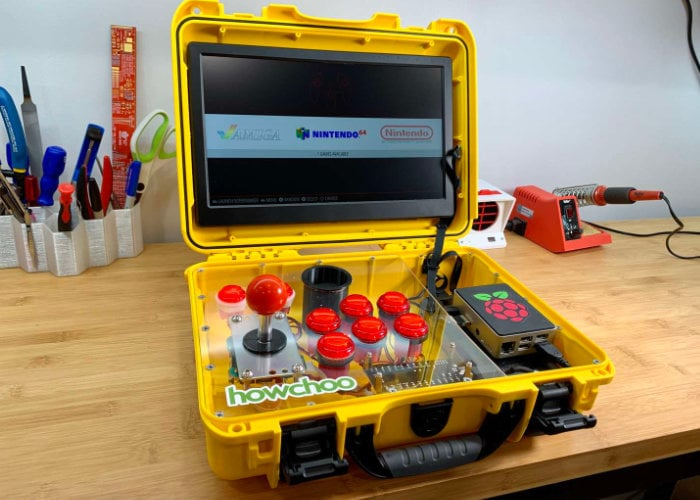 AdventurePi portable Raspberry Pi arcade project