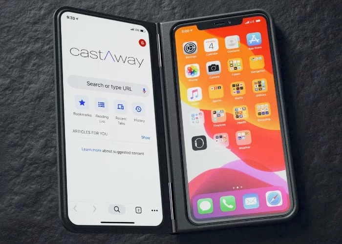 Add a second screen to your smartphone with castAway case