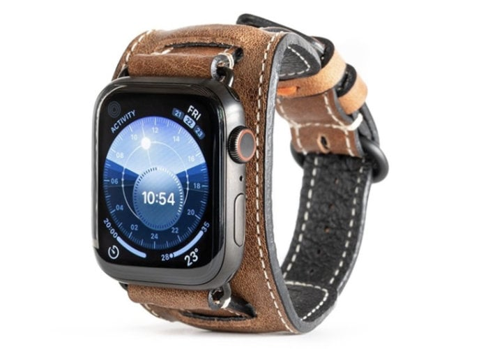 leather Apple Watch cuff