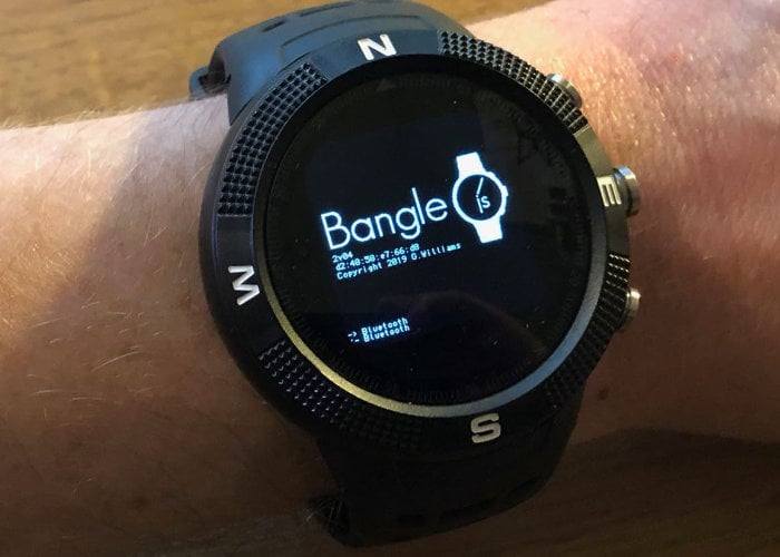 Bangle.js open source smartwatch hands on