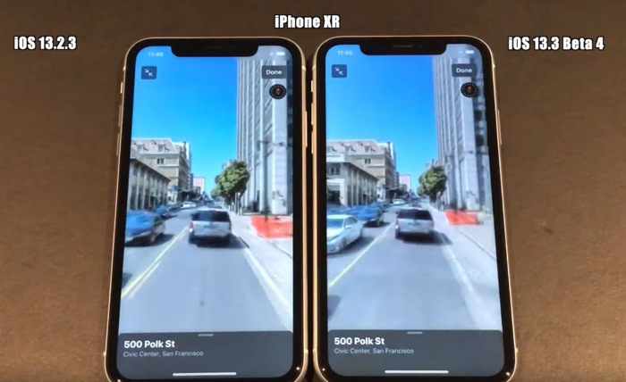 iOS 13.3 beta 4 vs iOS 13.2.3