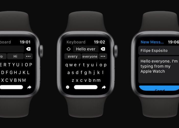Apple Watch Shift Keyboard