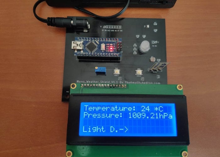 Arduino Nano Weather Shield project