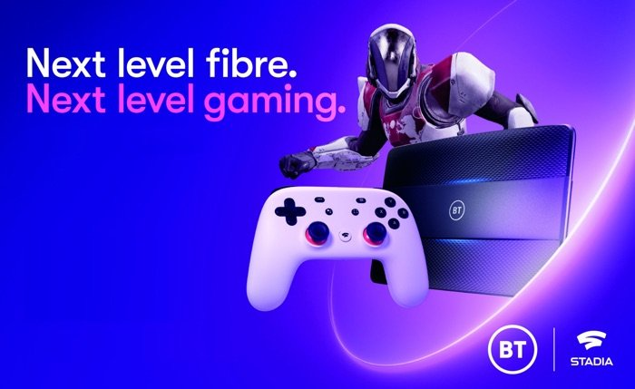 BT will offer Google Stadia with broadband plans in the UK