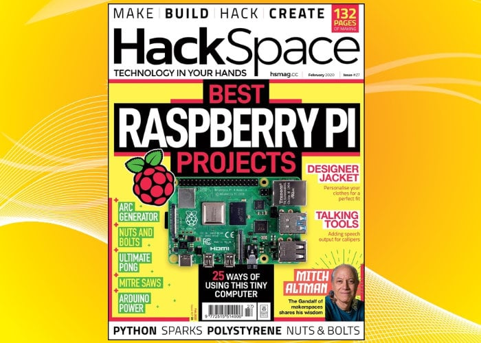 Latest HackSpace magazine features 25 Raspberry Pi projects