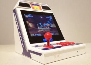 Mini Sega arcade cabinet