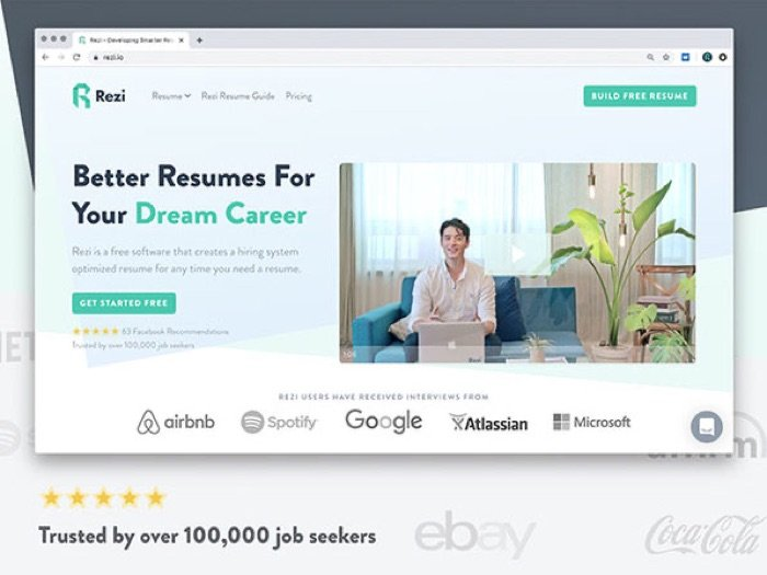 Save 94% on the Rezi Resume Software: Lifetime Subscription