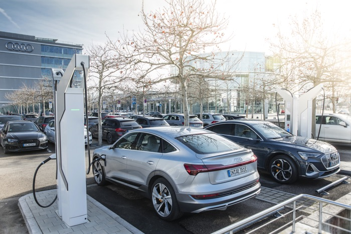 Audi is investing 100 Million Euros in electric charging