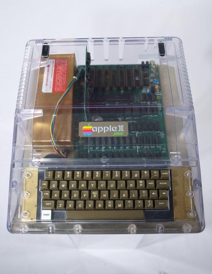 Apple II clear case