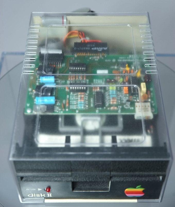Apple II drive clear case