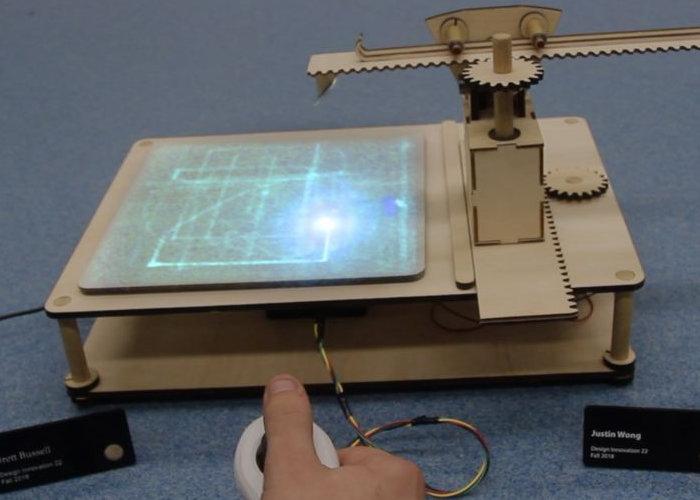 DIY joystick controlled laser cutter
