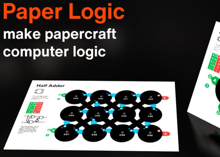 Paper craft computer logic