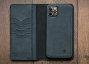 PowerWallet wireless charging iPhone leather wallet case