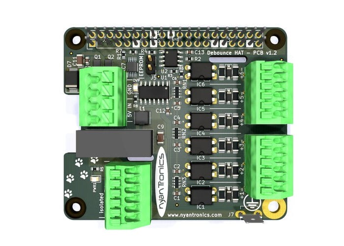 Raspberry Pi Debounce is a six-channel, fully isolated and debounced input HAT - Geeky Gadgets