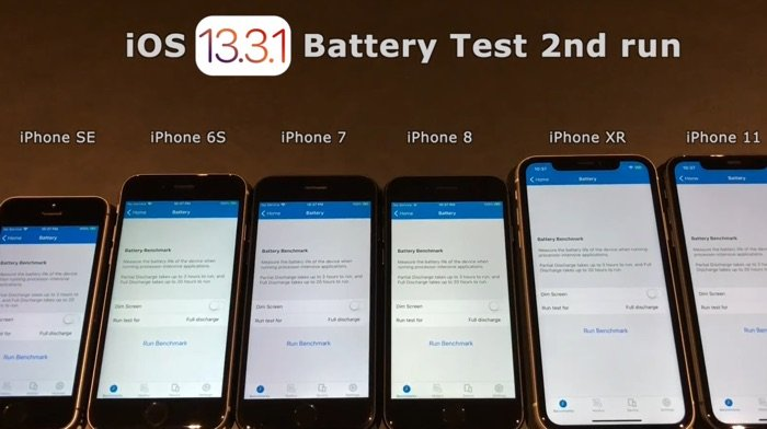 iOS 13.3.1 battery life test
