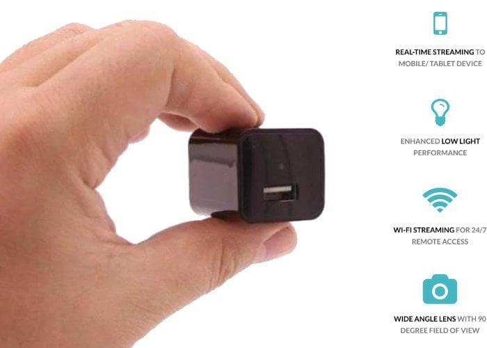 Secret home security camera hidden inside a charger - Geeky Gadgets