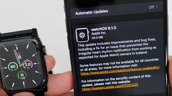 Apple Releases watchOS 6.1.3 Update With Major Bug Fix