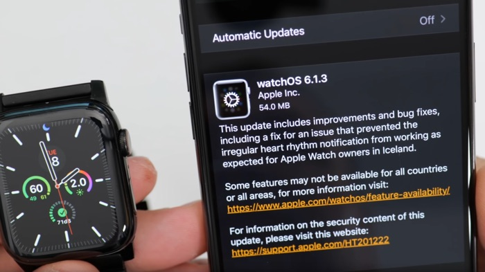 WatchOS 6.1.3 brings a heart-related bug fix