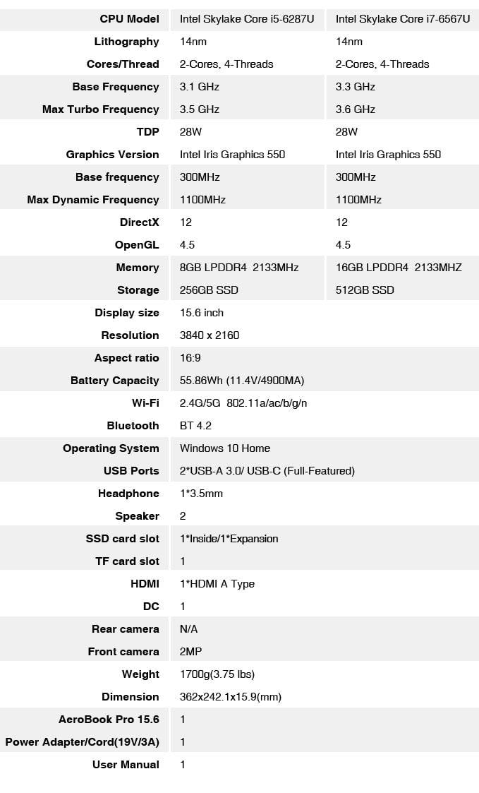 Chuwi AeroBook Pro laptop