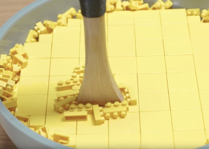 LEGO waffles and coffee stop motion animation
