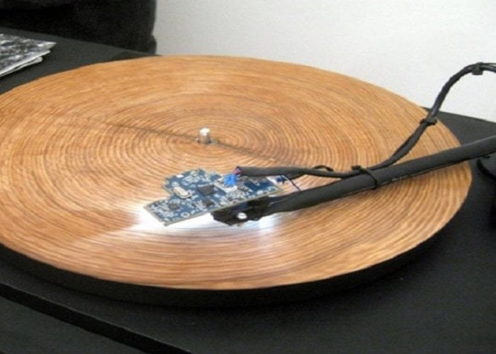 Tree ring record player transforms the tree's growth into music - Geeky Gadgets