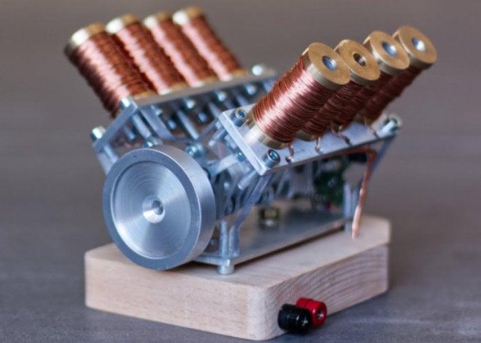 V8 solenoid engine