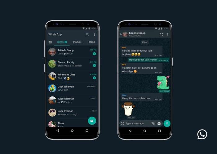 WhatsApp gets Dark Mode