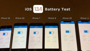 iOS 13.4 battery life