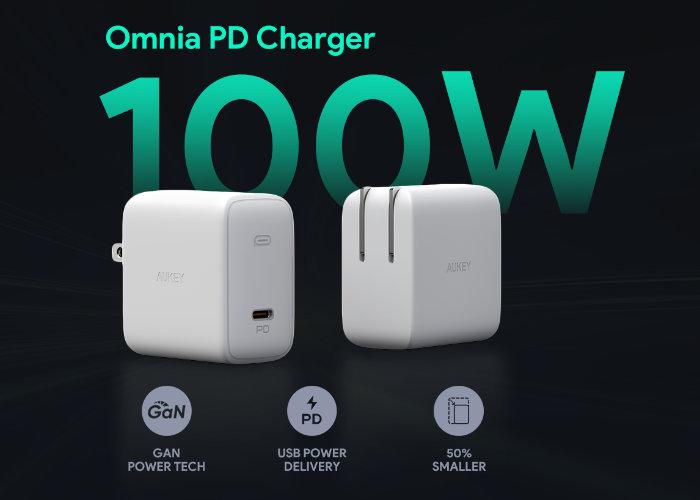Aukey Omnia 100W USB-C GaN charger