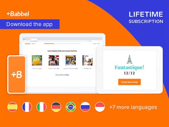 Reminder: Save 60% on the Babbel Language Learning: Lifetime Subscription