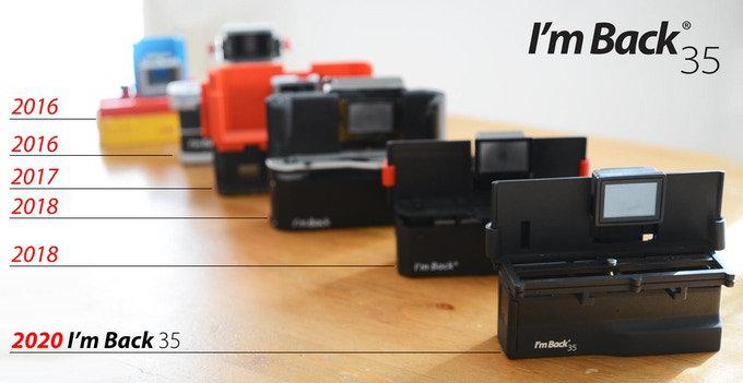 Digital camera back for analog cameras