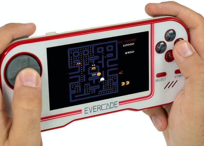 Evercade cartridge retro handheld games console