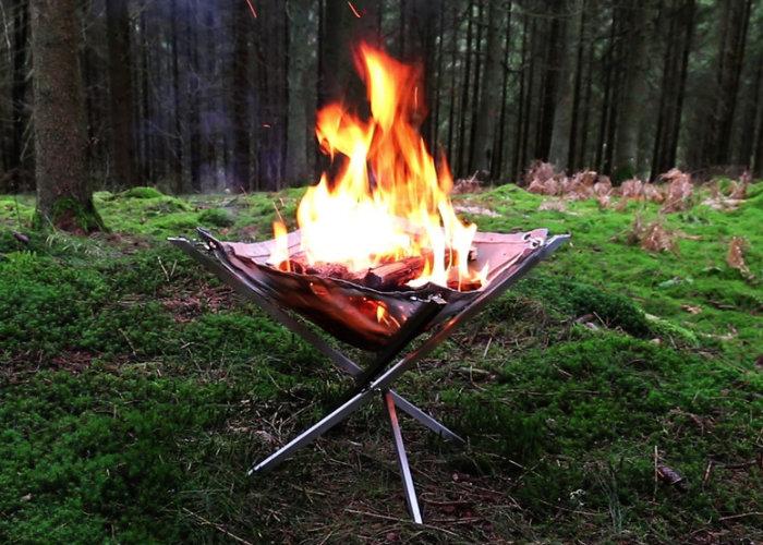 Firekorf a portable lightweight firepit