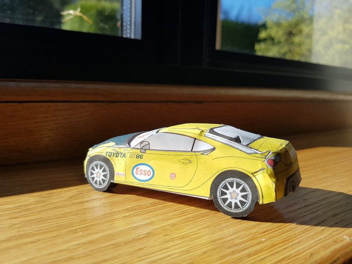 You Can Now Build Your Own Toyota Gt86 From Paper Geeky