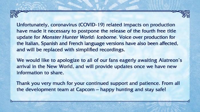 Iceborne Alatreon update