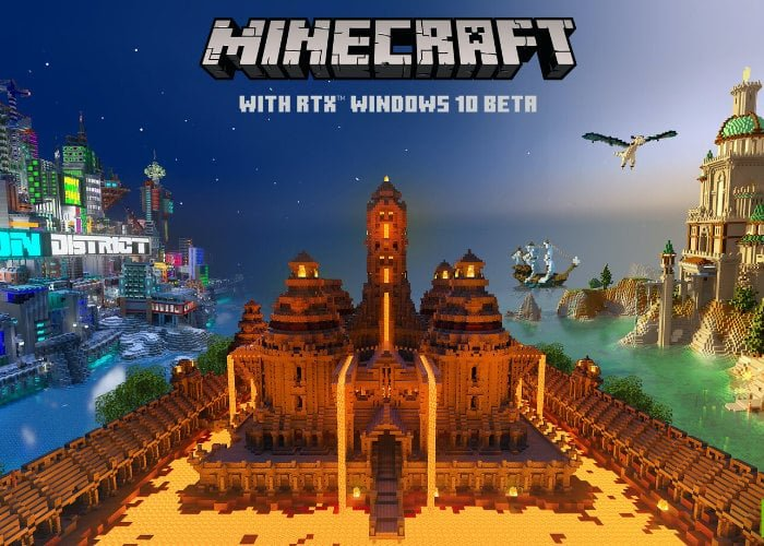 Minecraft RTX Ray Tracing Open Beta