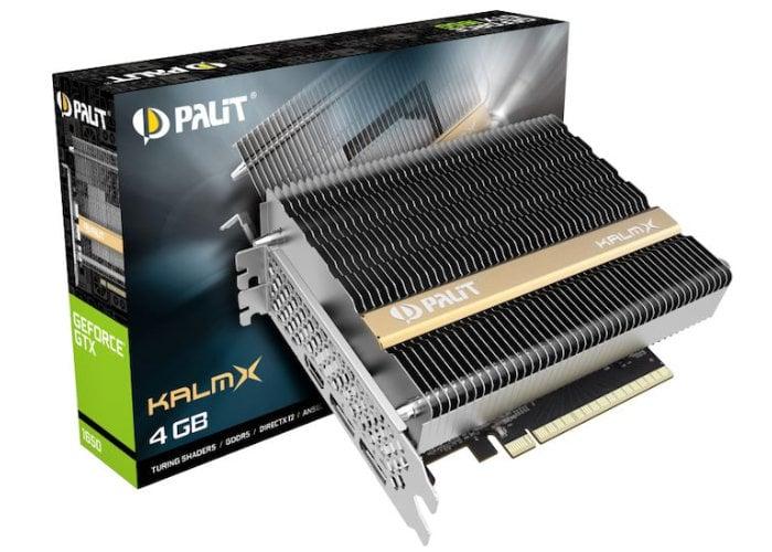 Palit fanless GTX 1650